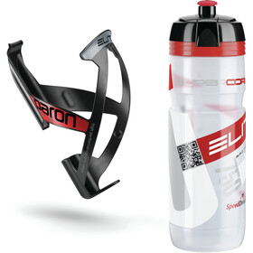Elite Kit Supercorsa/Paron Bottle & Holder 0.75 litres, clear/red/black/red